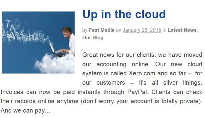 Up in the Cloud, Fast Media